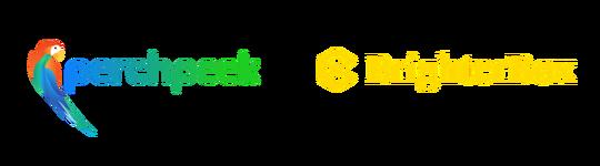 Perchpeek logo with BrighterBox logo